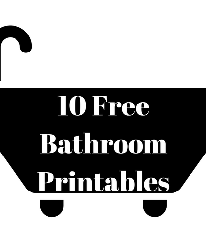 10 Free Bathroom Printables