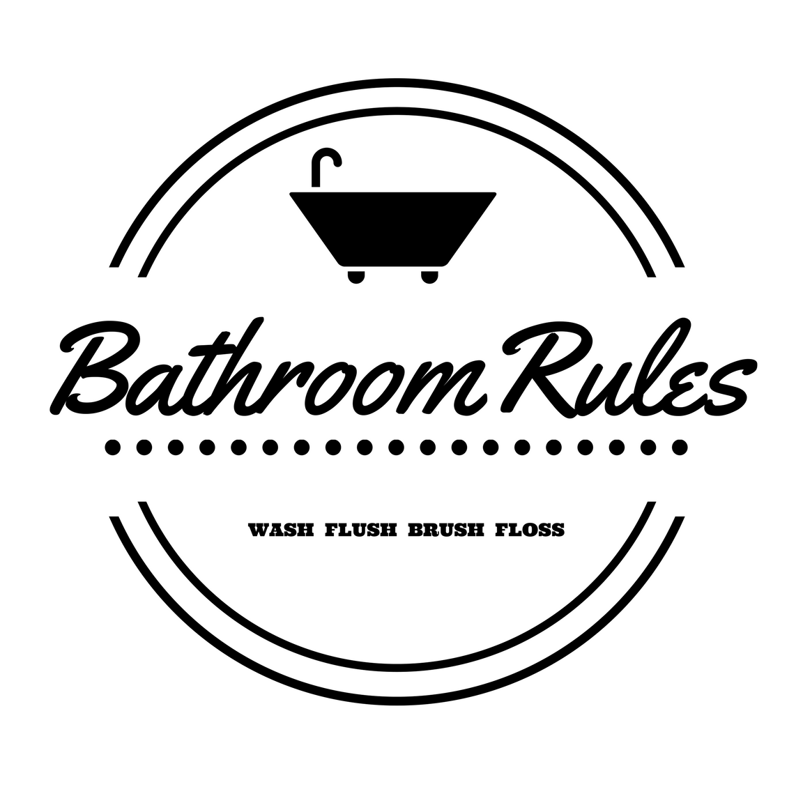 image about Printable Bathroom Rules identified as 10 Totally free Toilet Printables for any rest room, any decor and