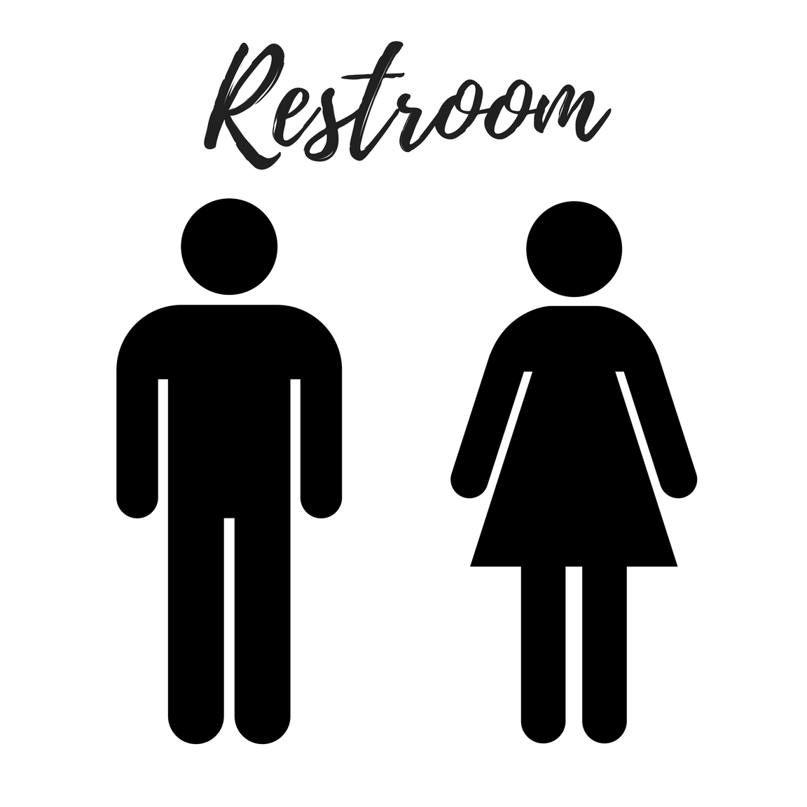 Nerdy image for printable bathroom sign