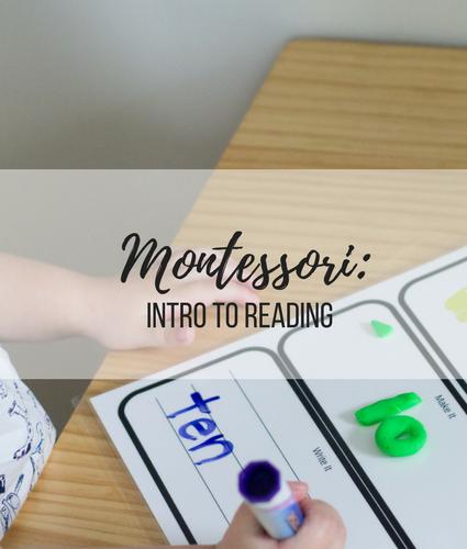 Montessori Home Preschool: Intro to Reading