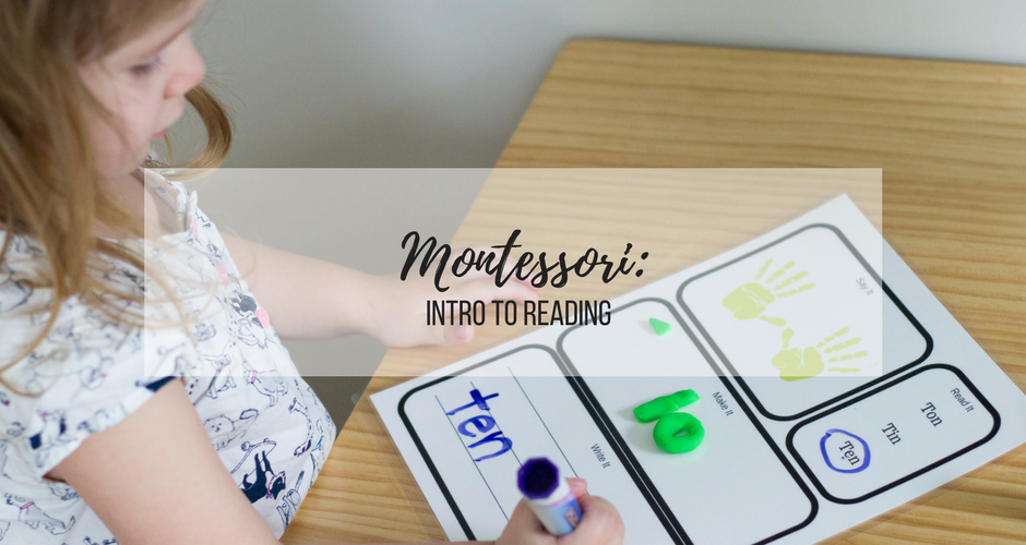 Montessori Home Preschool: Intro to Reading graphic
