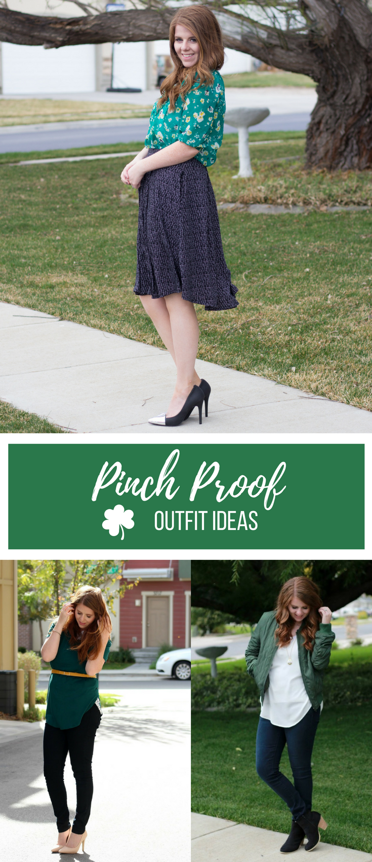 Pinch Proof outfits for St. Patrick's Da