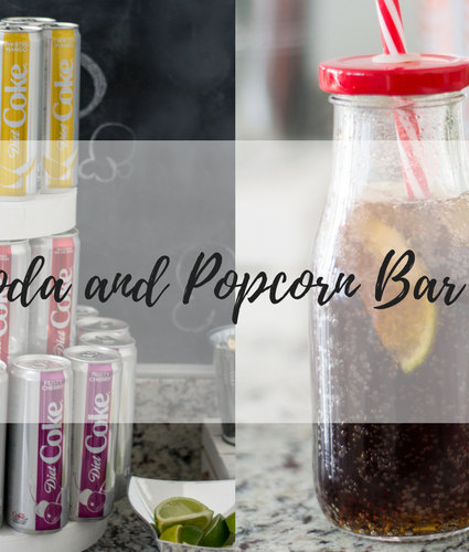 Diet Coke Soda and Popcorn Bar: Perfect for a viewing party, or game night.