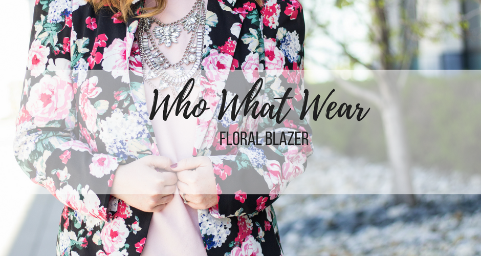 Who What Wear Floral Blazer
