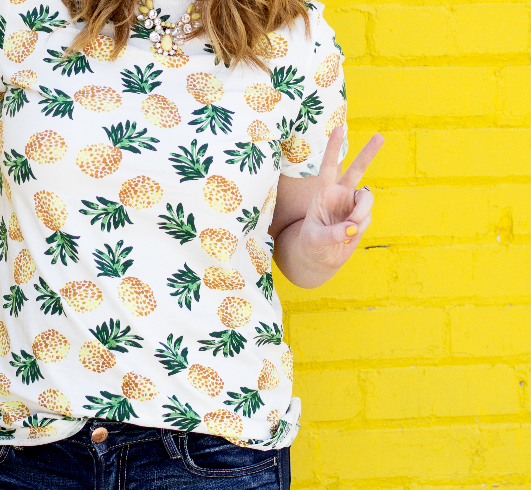 Pineapple Tee and Stripes