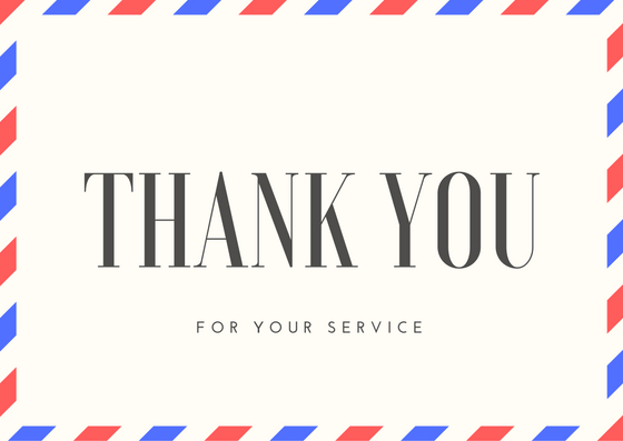 Thanking a Soldier Printable