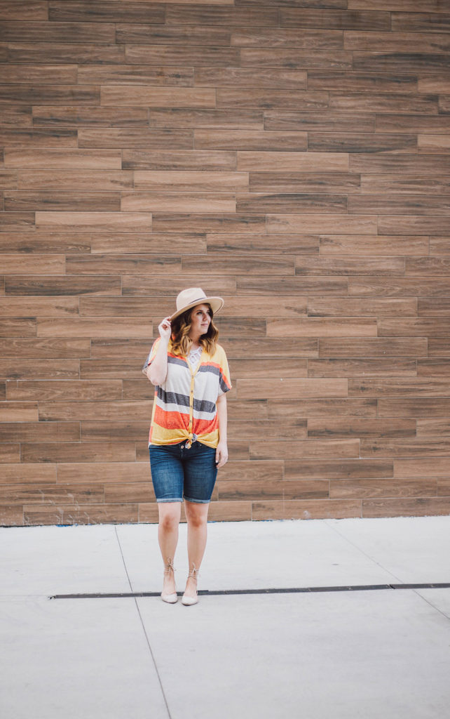 How to Style Tie Front Tops featuring Mia's Cove