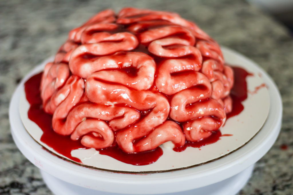 Zombie Brain Cake from Nerdy Nummies