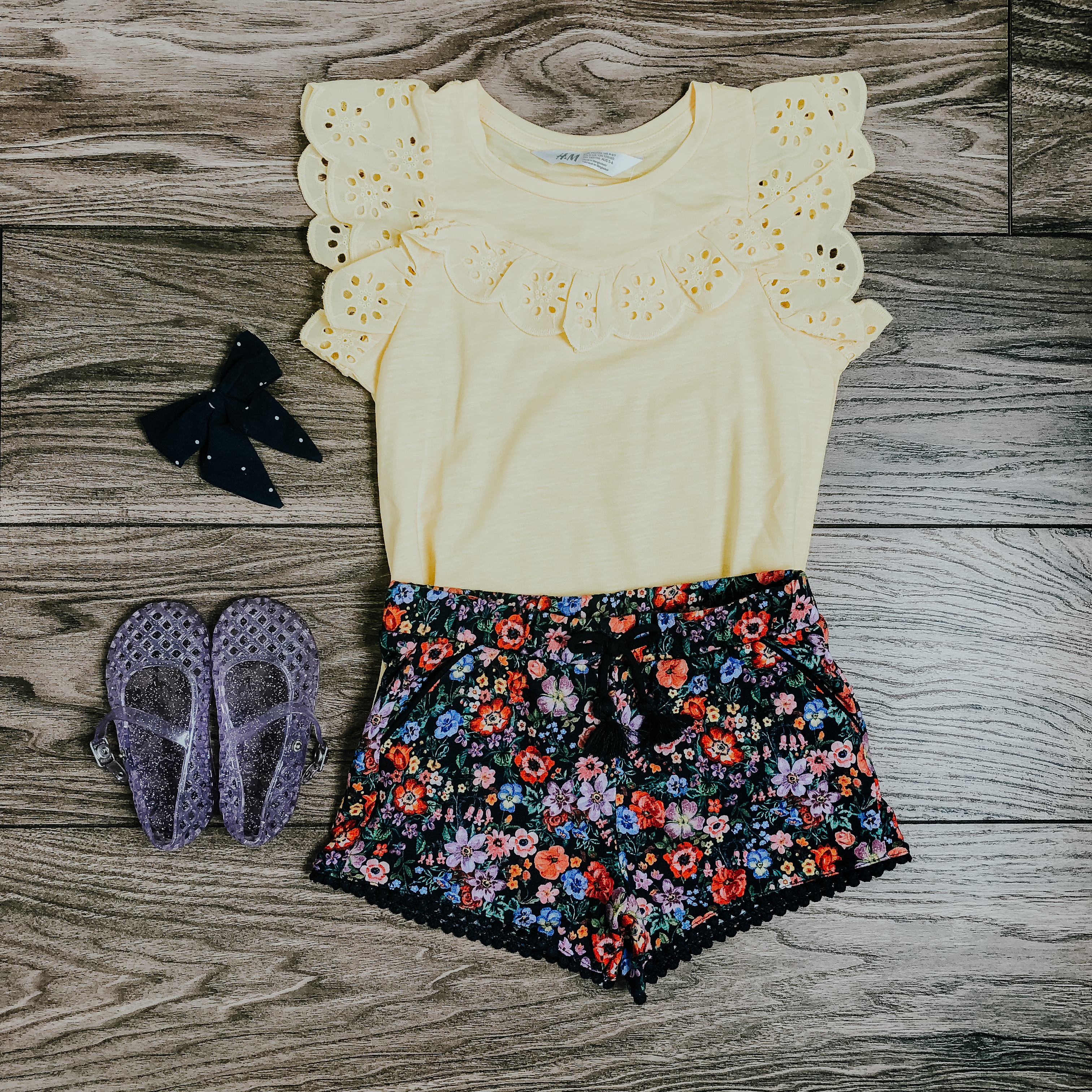 Little Girl Outfit flatlays