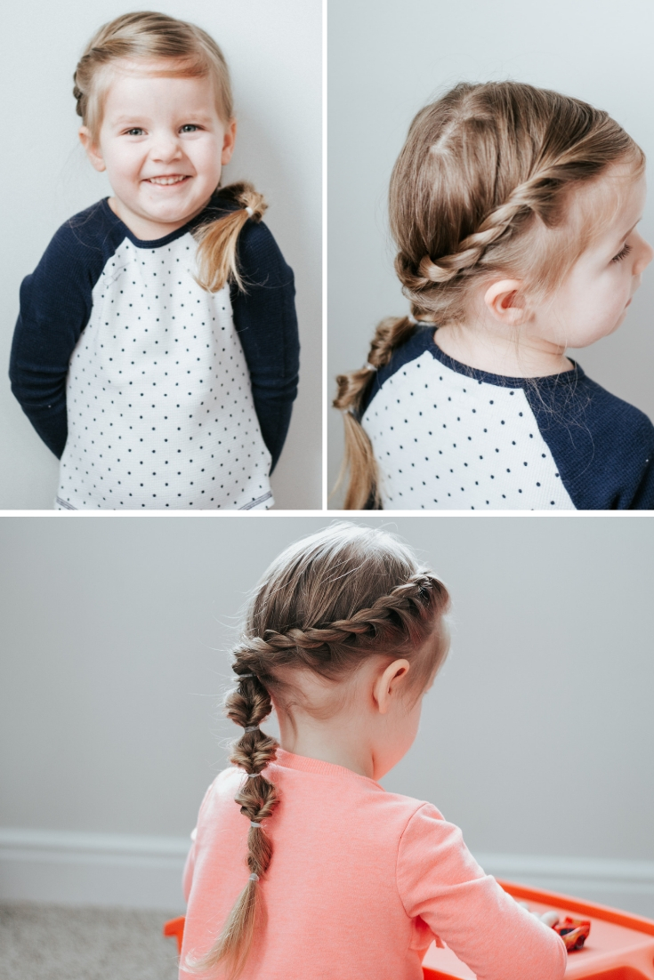 French twist side braid
