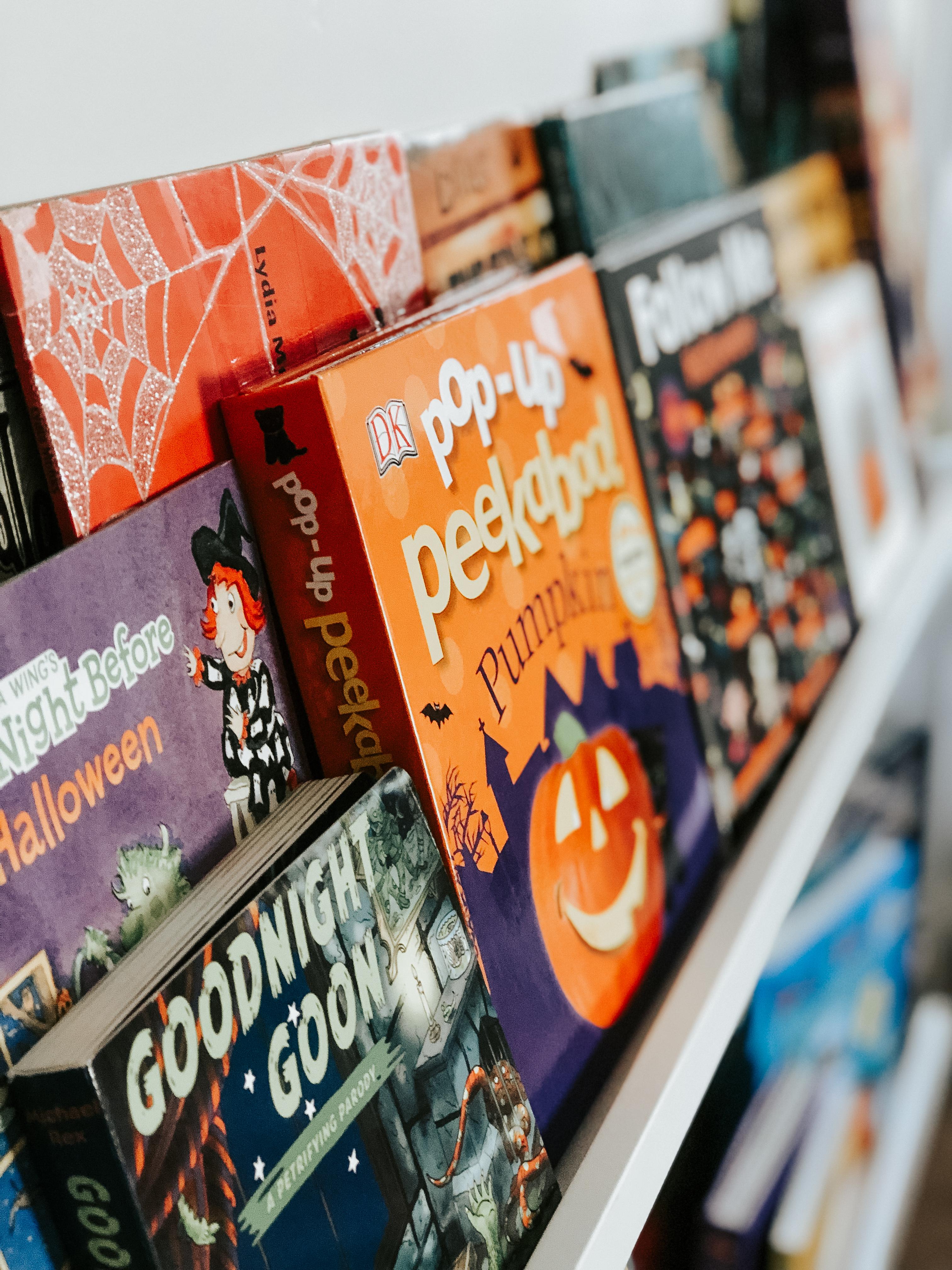 Halloween shelf
