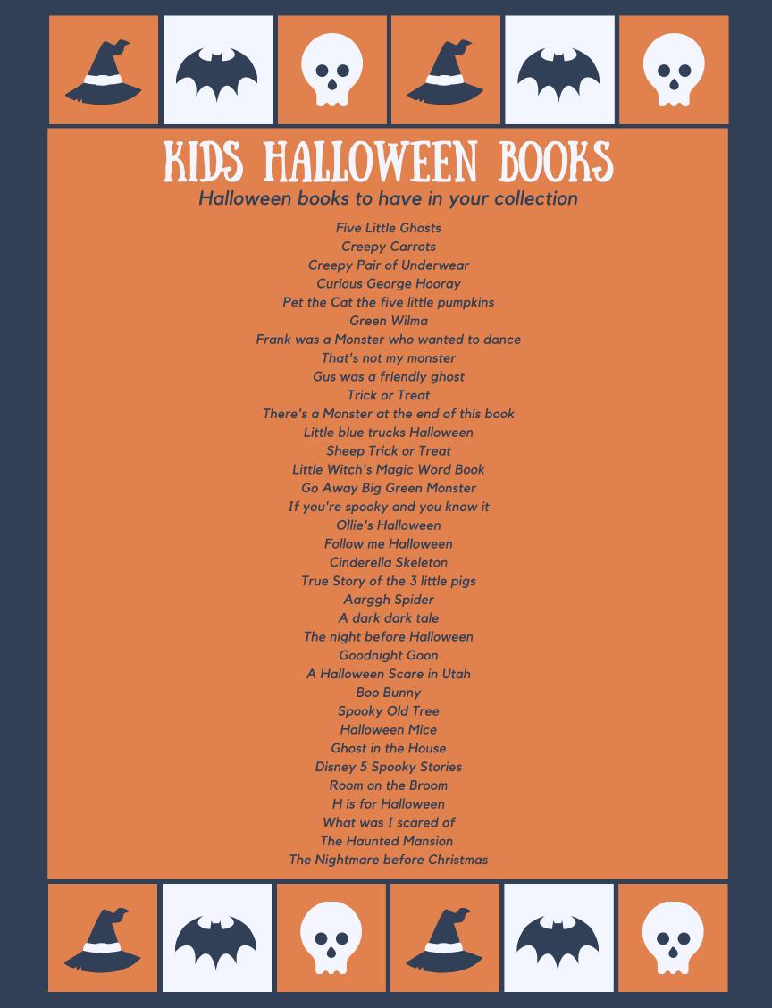 Halloween Books List