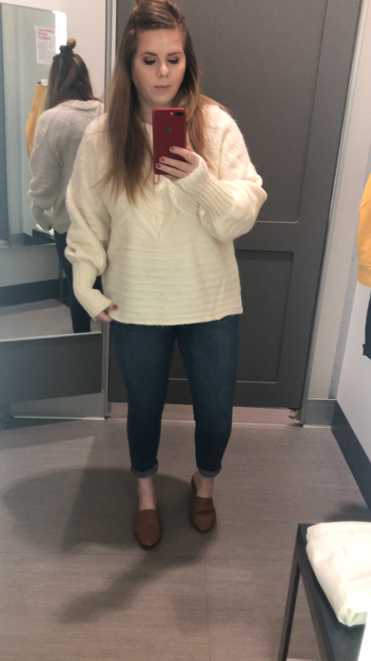 sweater try on