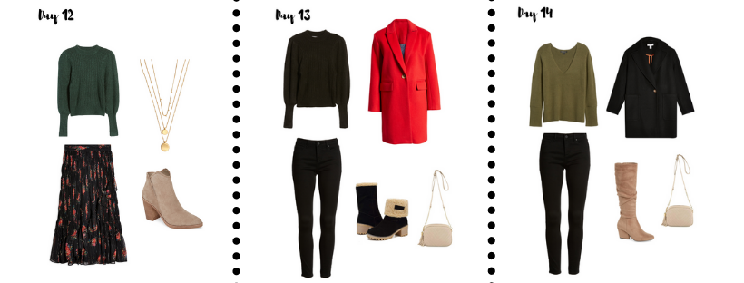 January Outfit Bucket list