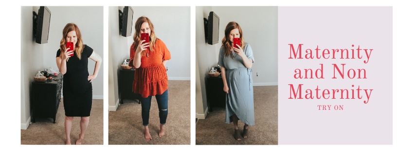 Non-Maternity and Maternity Try On